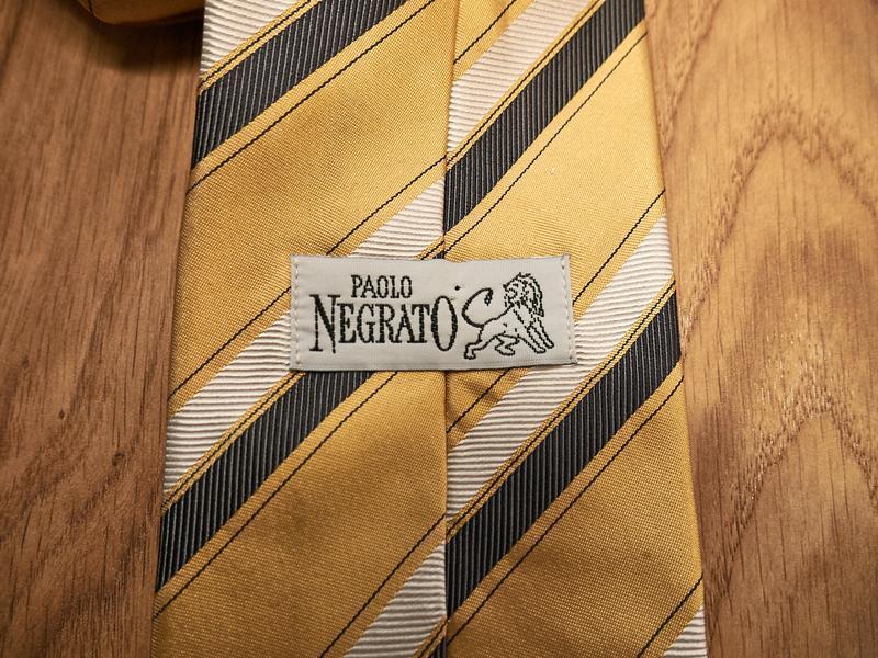 Стильный винтажный шелковый галстук - Фото 4