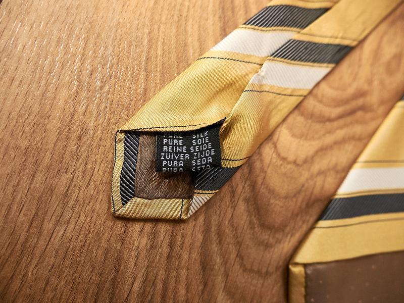 Стильный винтажный шелковый галстук - Фото 5