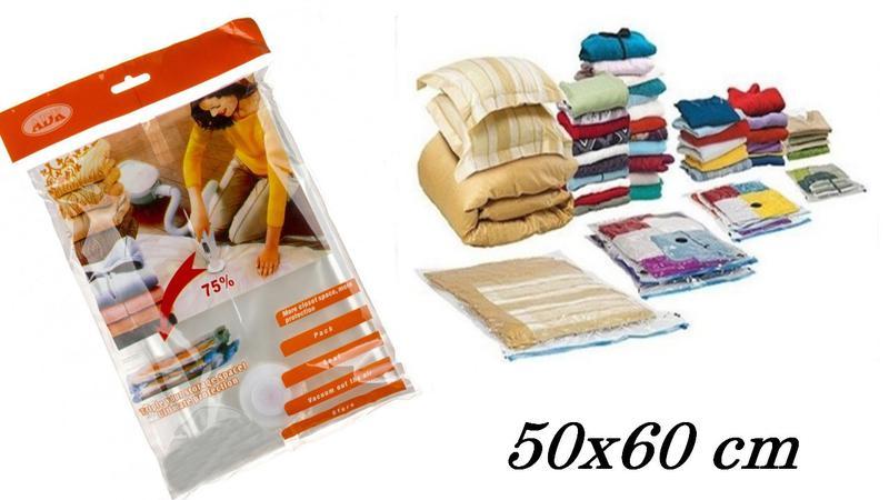 Вакуумний пакет для одягу VACUUM BAG 50 х 60 см вакуумный паке...