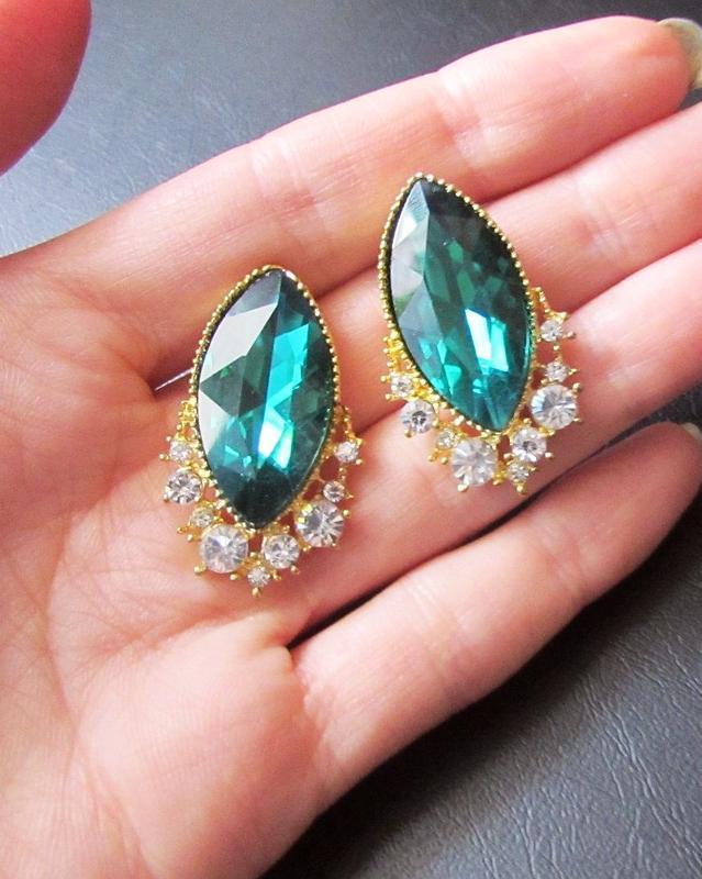 🏵️эксклюзивные нарядные серьги с кристаллами, новые! арт. 6971 - Фото 3