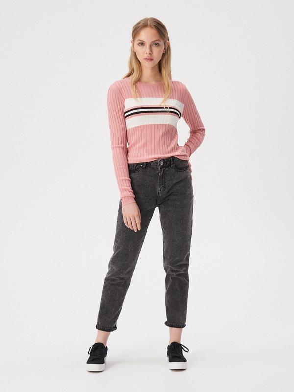 Новая облегающая розовая кофта пудра свитер джемпер польша бел... - Фото 2