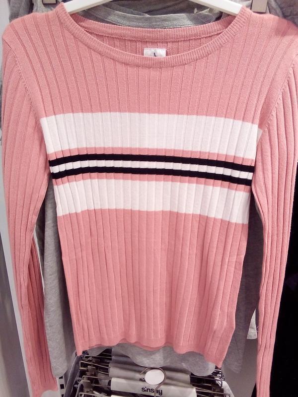 Новая облегающая розовая кофта пудра свитер джемпер польша бел... - Фото 5