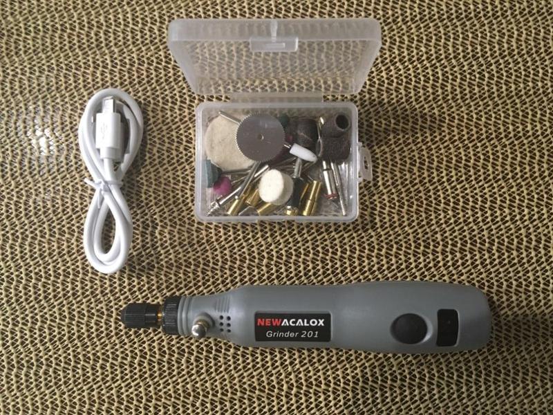 Беспроводной фрезер гравер шлифмашинка мини дрель с насадками - Фото 10