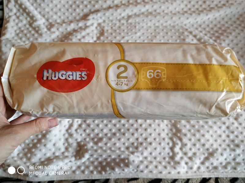 Памперсы Подгузники Huggies Elite Soft р2 4-7 кг 66 шт - Фото 2