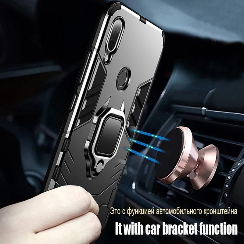 Чехол,  Бампер для Huawei P20 Lite - Противоударный с Кольцом - Фото 3