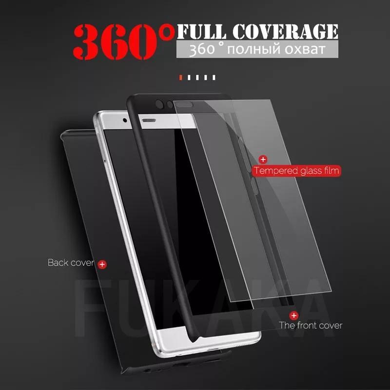 Чехол,  Бампер для Huawei P20 Lite - Пластиковый со Стеклом - Фото 2