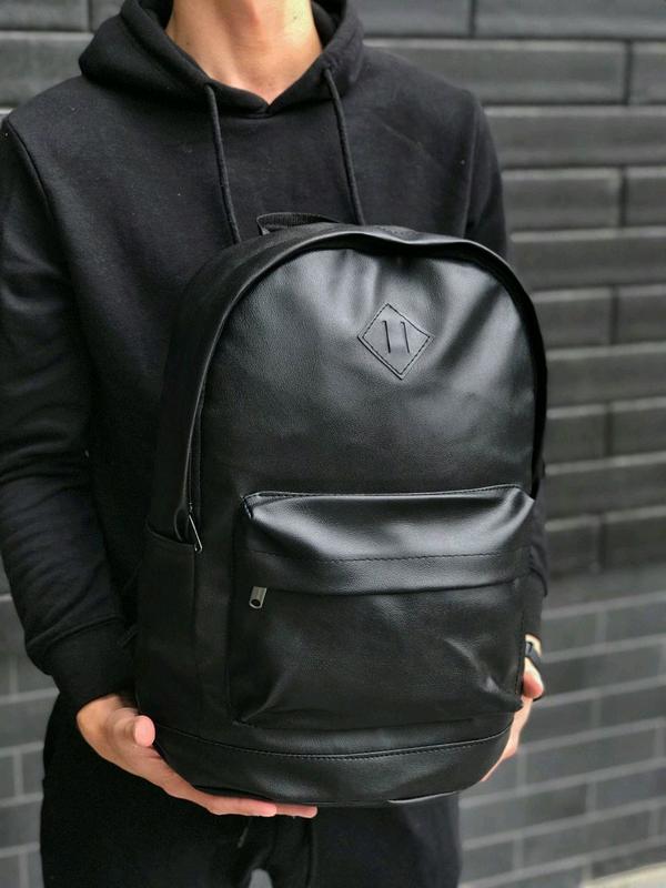 Популярный рюкзак портфель кожа сумка ранец - Фото 2