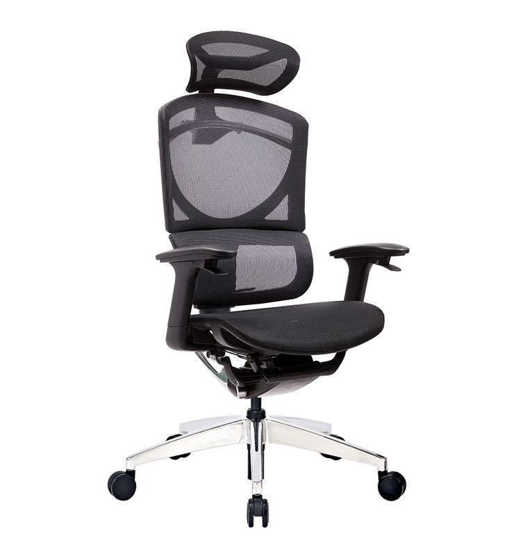 Кресло офисное ERREVO  ZERO в черном цвете, сетка/сетка