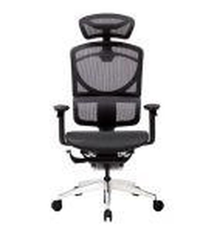Кресло офисное ERREVO  ZERO в черном цвете, сетка/сетка - Фото 3