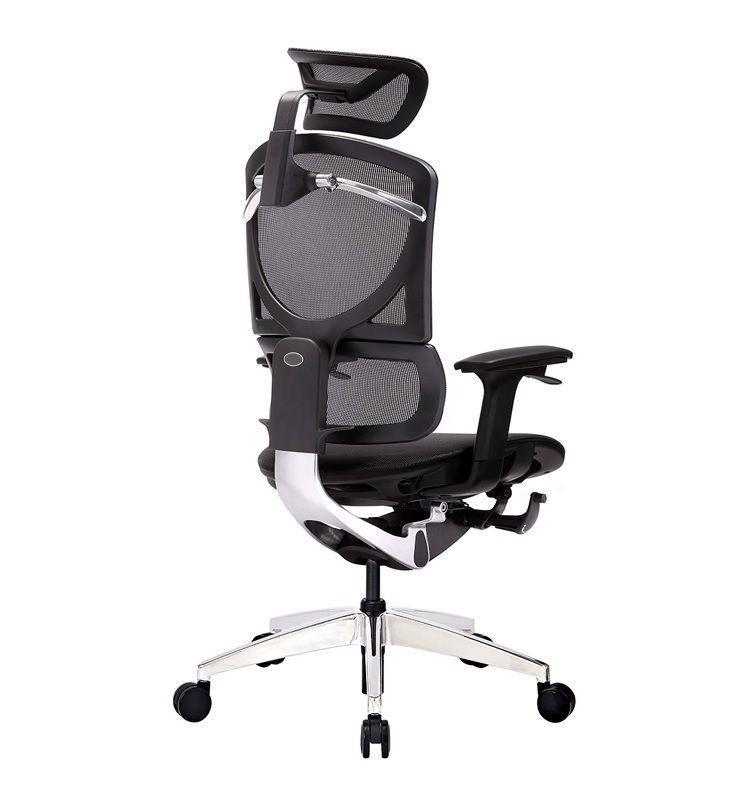 Кресло офисное ERREVO  ZERO в черном цвете, сетка/сетка - Фото 4