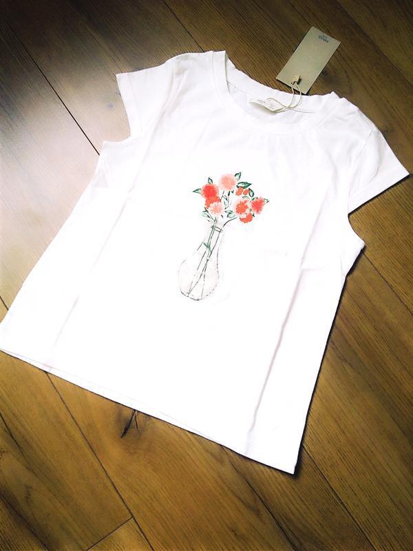 Котоновая футболка mango для девочки 4-5, 5-6, 6-7 лет