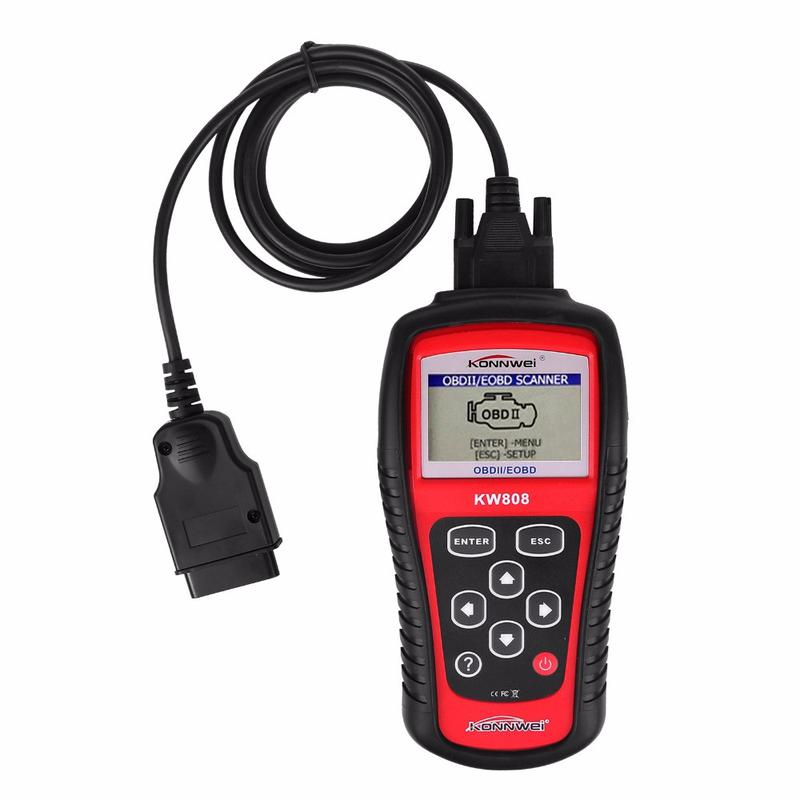 Автомобильный диагностический сканер Konnwei KW808 OBD II/EOBD...