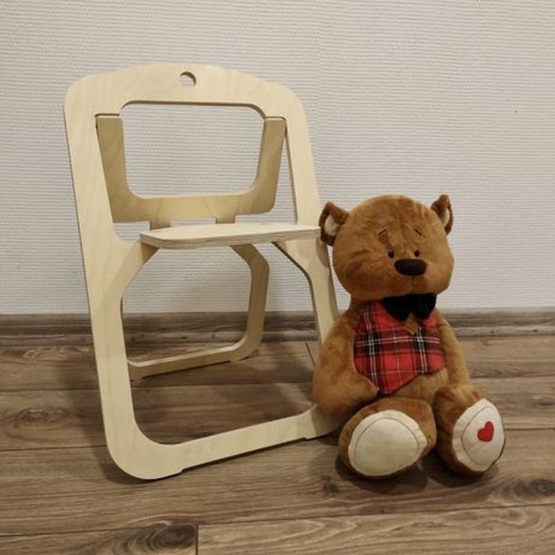Детский раскладной стульчик из фанеры