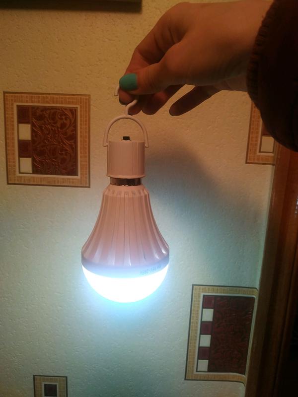 Led лампа дневной белый свет от сети на аккумуляторе Экономная