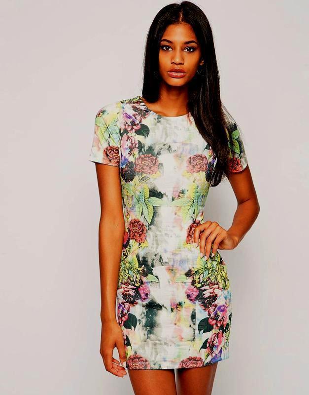 Платье в цветочный принт asos - Фото 2
