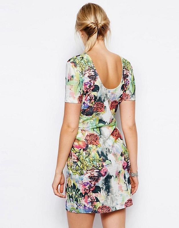 Платье в цветочный принт asos - Фото 3