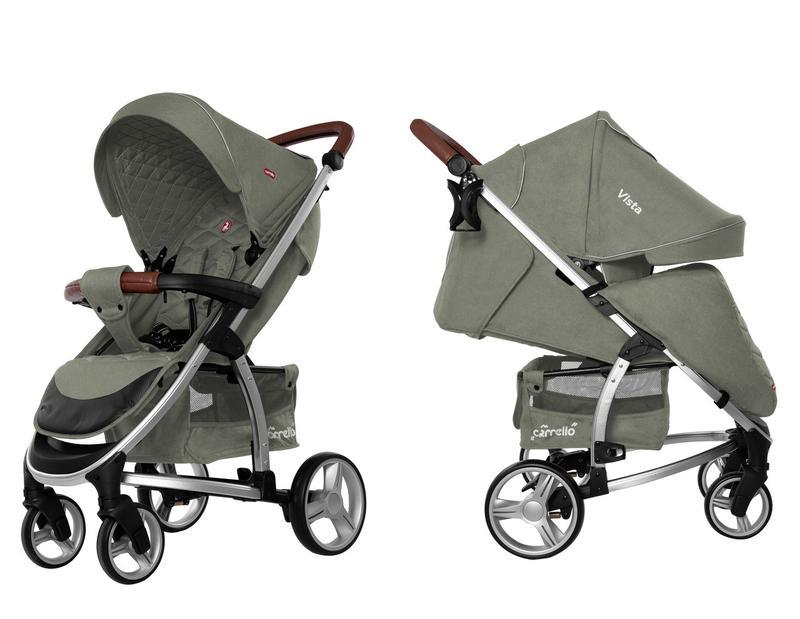Прогулочная коляска CARRELLO Vista CRL-8505 Olive Green в льне...