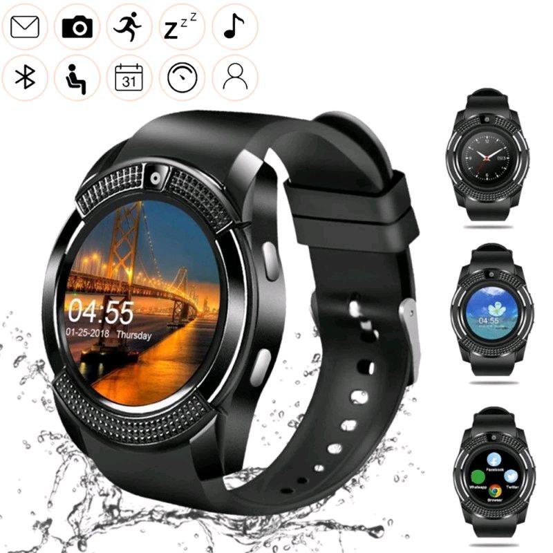 Умные смарт часы Smart Watch сенсорные часы-телефон с камерой и ф