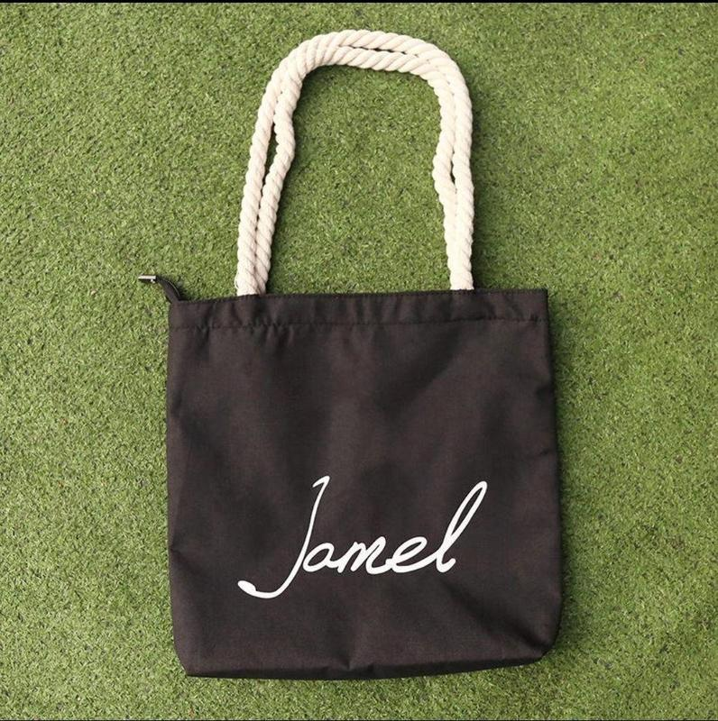 Чорна тканинна сумка - Фото 2