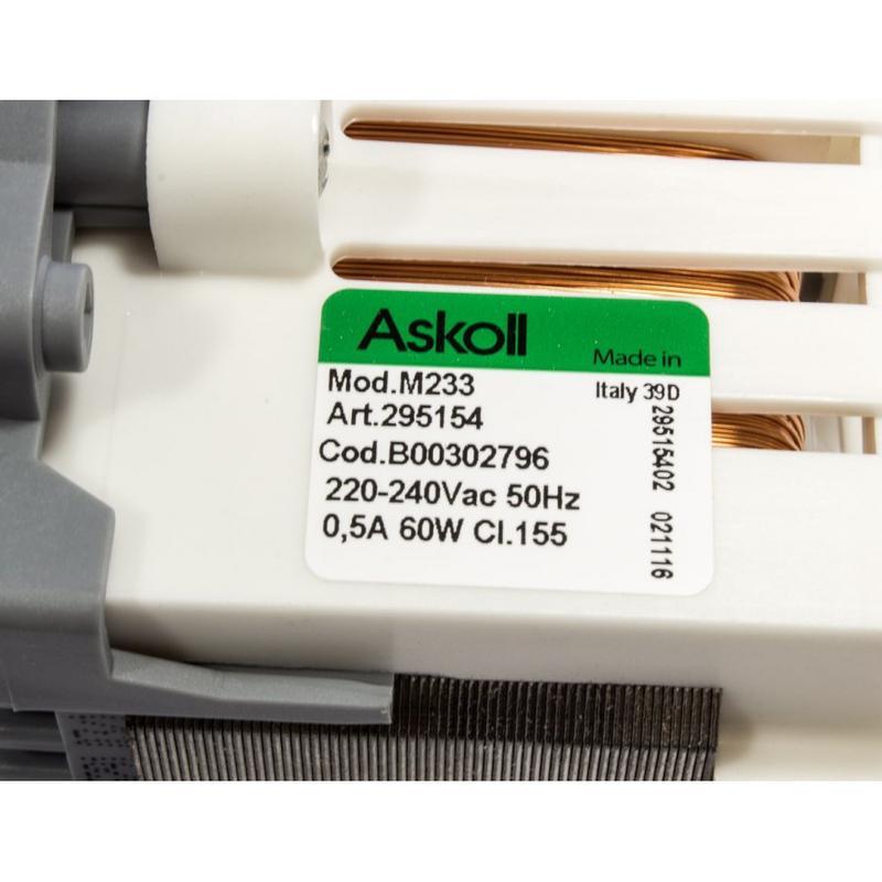 Мотор циркуляционный на посудомойку Ariston Indesit C00302796 - Фото 4