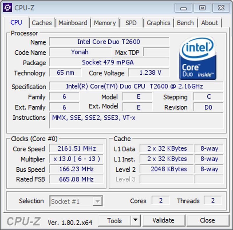 Процессор Intel Core 2 Duo T2600 (2.16 GHz) + термопаста - Фото 2