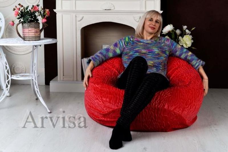 Бескаркасное Кресло мешок пуф XXL 160*130 Мягкая мебель груша ... - Фото 2