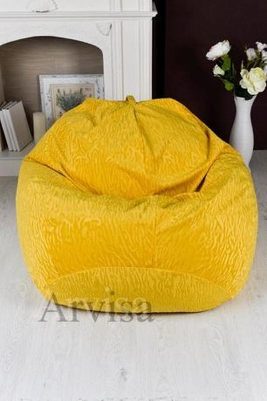 Бескаркасное Кресло мешок пуф XXL 160*130 Мягкая мебель груша ... - Фото 4