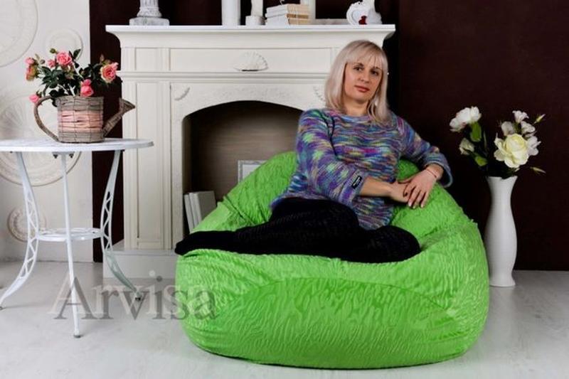 Бескаркасное Кресло мешок пуф XXL 160*130 Мягкая мебель груша ... - Фото 8