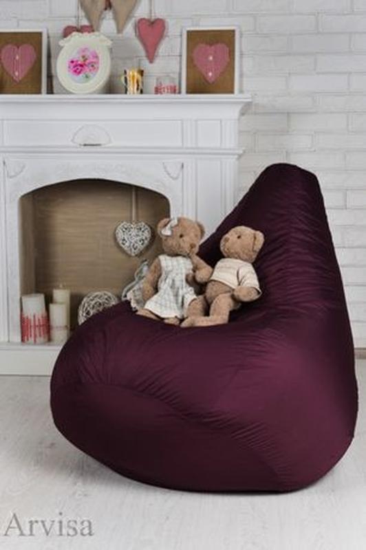 Бескаркасное кресло мешок груша, XL. Мягкий пуф, мебель произв... - Фото 3