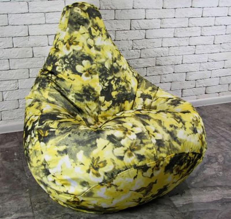 Бескаркасное кресло мешок груша, XL. Мягкий пуф, мебель произв... - Фото 4