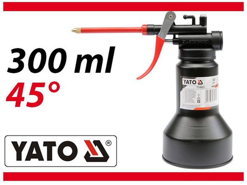 Масленка-нагнетатель рычажная с гибким шлангом , 300 мл YATO Y...