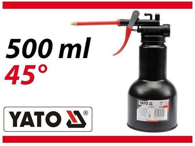 Масленка-нагнетатель рычажная с гибким шлангом , 500 мл YATO Y...