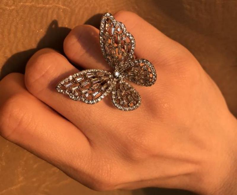 Кольцо бабочка / кольцо в ввиде бабочки / хит 2021