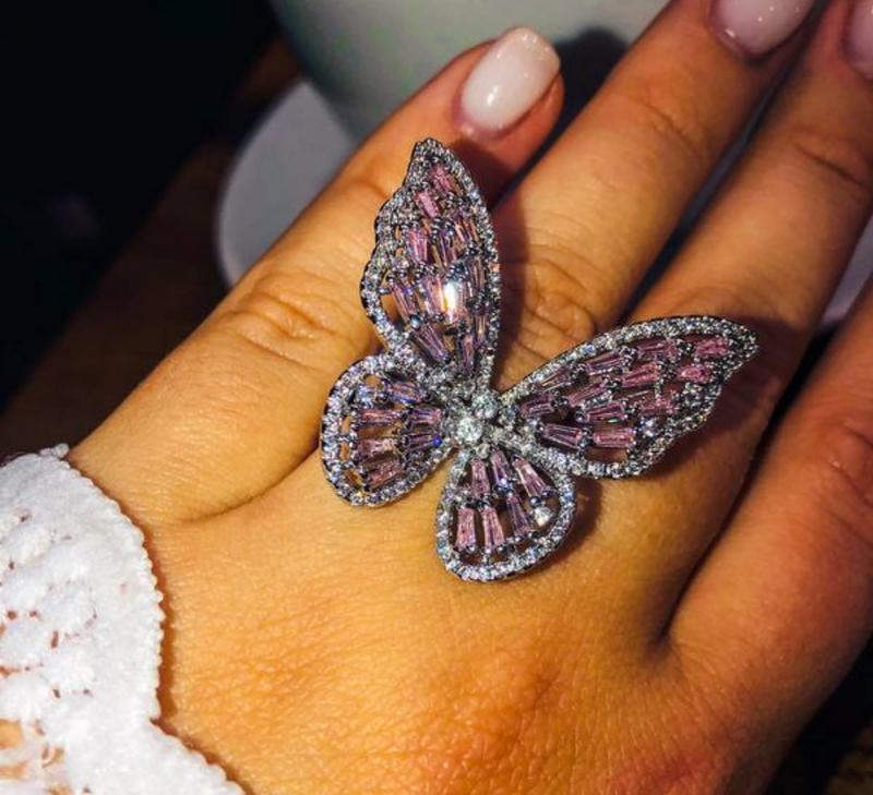 Кольцо бабочка/ хит 2021/ кольцо в ввиде бабочки