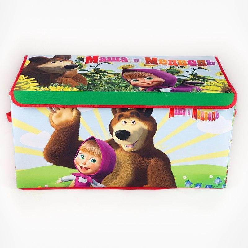 Коробка ящик для хранения игрушек и детских вещей Маша и Медве...