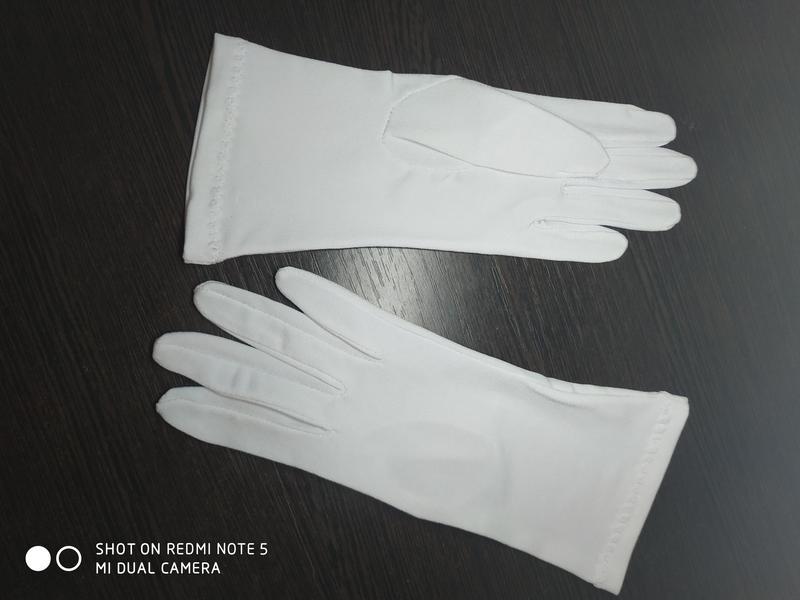 """Перчатки """"Венеция"""" белые."""
