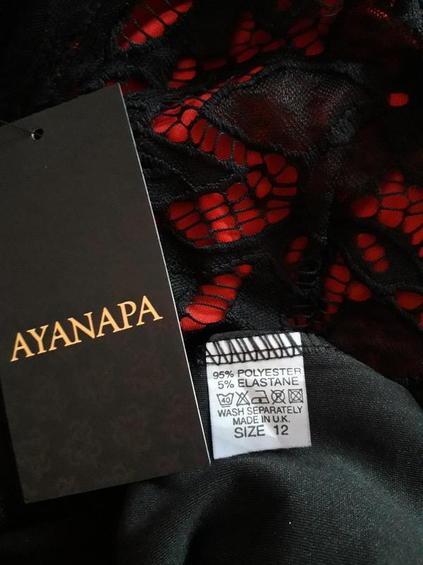 Женское вечернее нарядное кружевное черное платье футляр клубн... - Фото 5