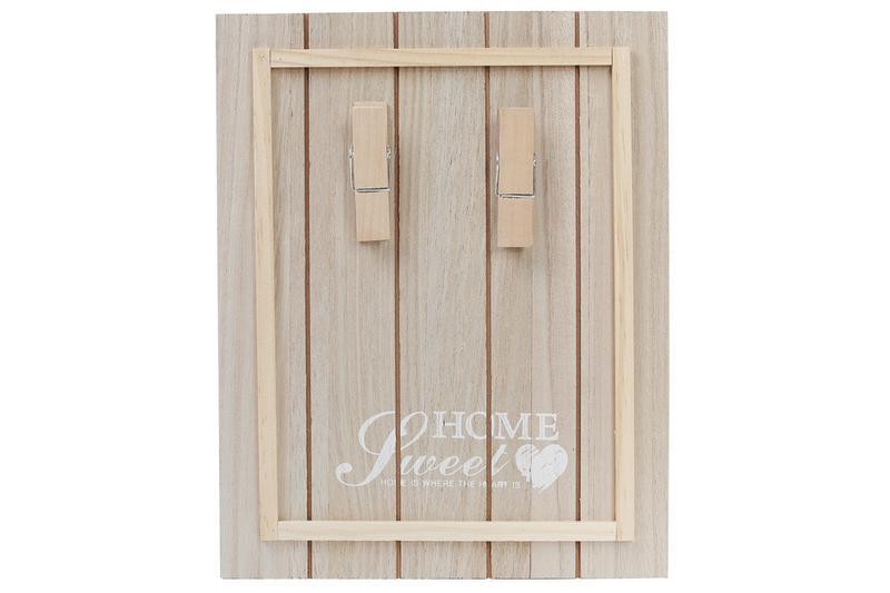 Доска деревянная Sweet Home с прищепками для записок BonaDi 44...