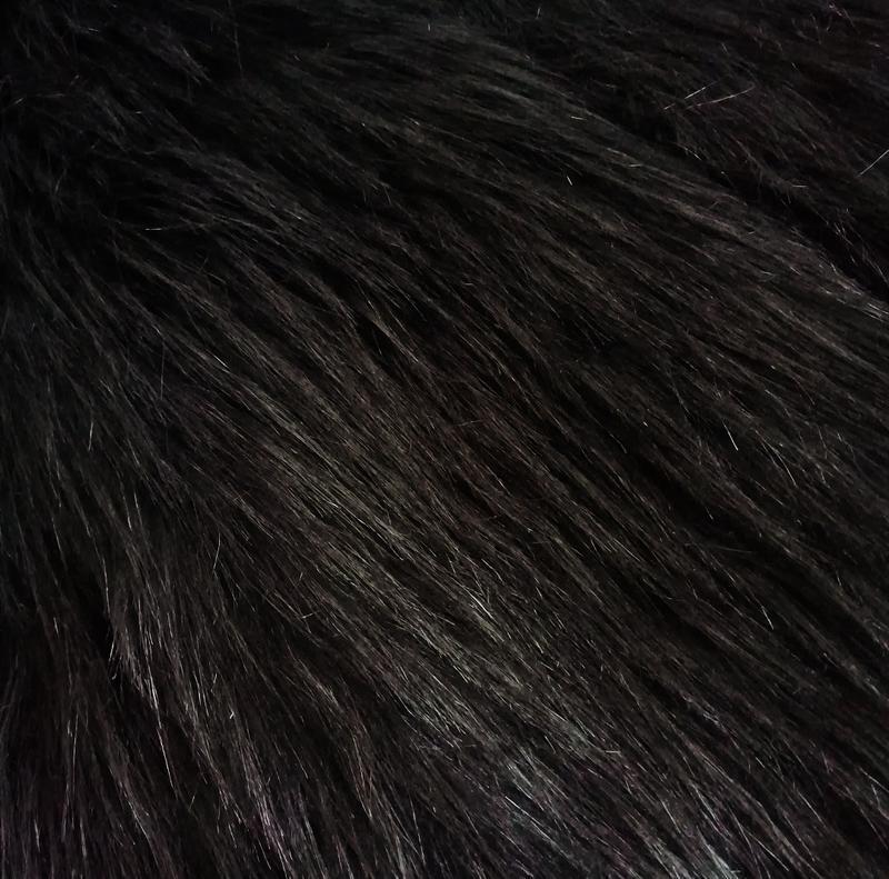 Коричневая черная шубка шуба искусственная искусственного меха... - Фото 8