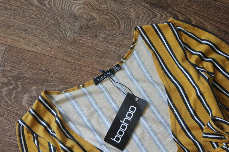 Полосатая кофта блуза топ на запах от boohoo - Фото 4