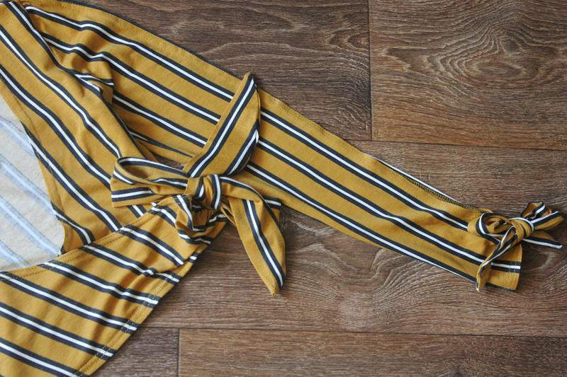 Полосатая кофта блуза топ на запах от boohoo - Фото 5
