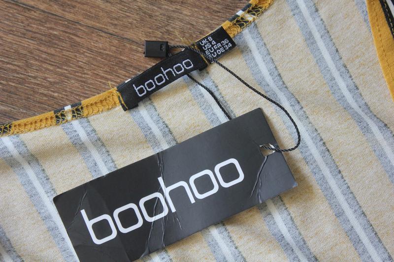 Полосатая кофта блуза топ на запах от boohoo - Фото 6