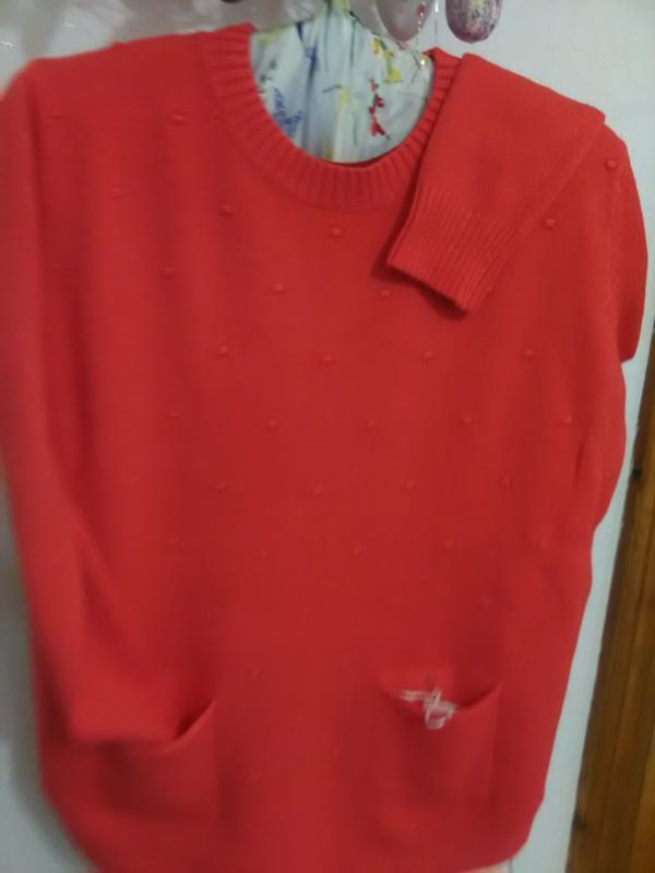 Суперова коітинка-пуловер ягідно-коралового кольору