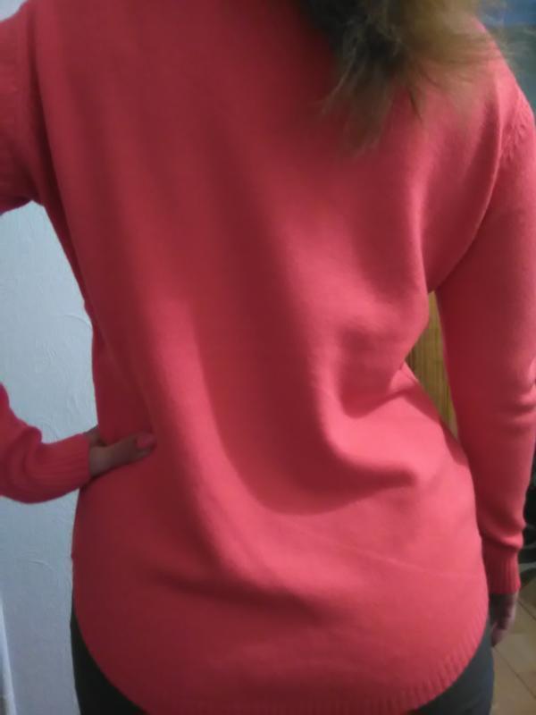 Суперова коітинка-пуловер ягідно-коралового кольору - Фото 4