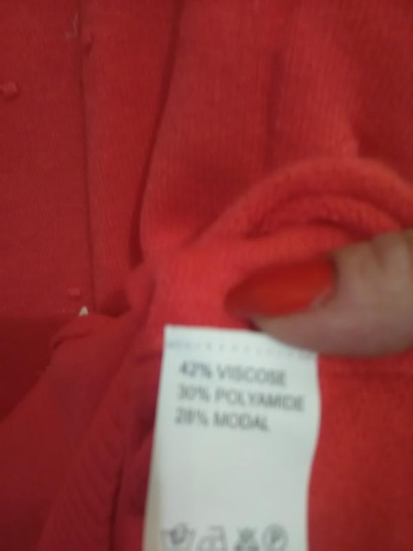 Суперова коітинка-пуловер ягідно-коралового кольору - Фото 5