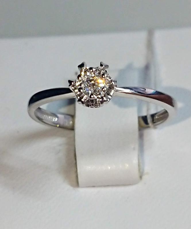 Золотое кольцо 16,5 р хитовая модель! бриллианты белое золото ...