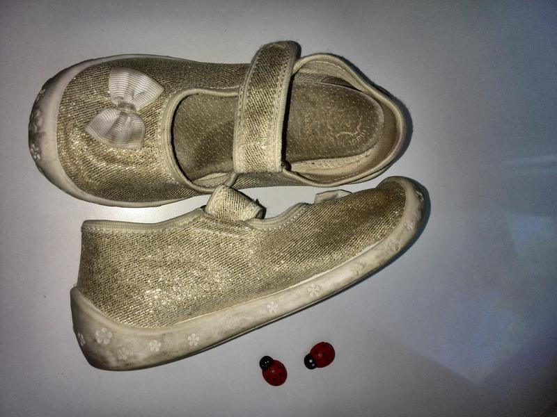 Raweks золотистые туфли -  тапочки р.26