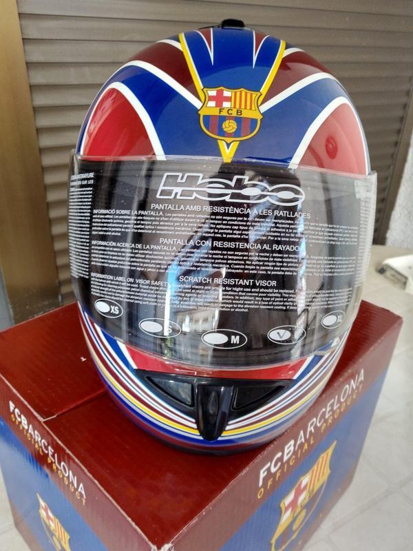 Мотошлем  FCBarcelona - Фото 4