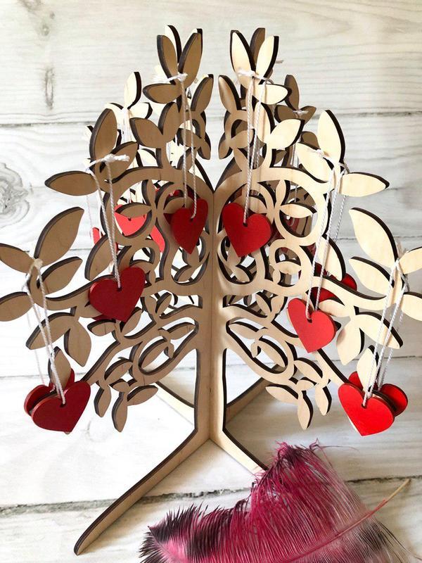 Дерево пожеланий на свадьбу — оригинальное украшение .