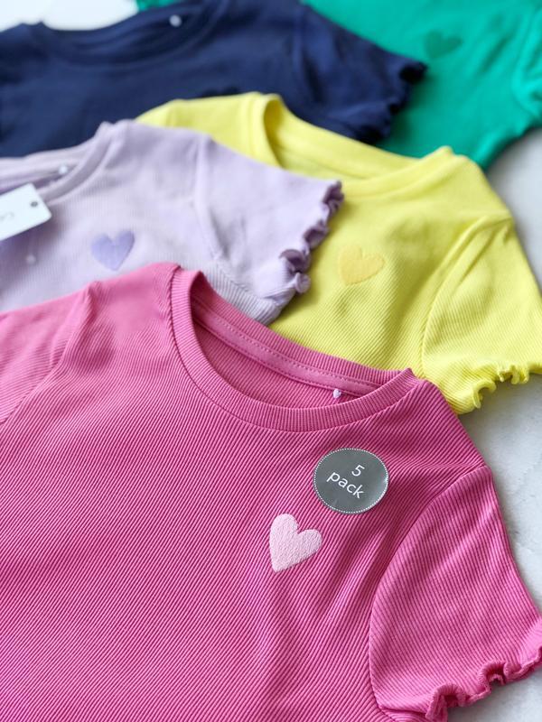 Футболка, набір футболок для дівчинки, 5-6р, george